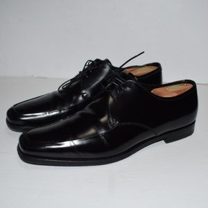 PRADA Solid Black Leather Dress Shoes Sz 8UK / 9US